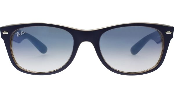 New Wayfarer 2132 63083F 5218 Matte Blue / Opal Brown von Ray-Ban
