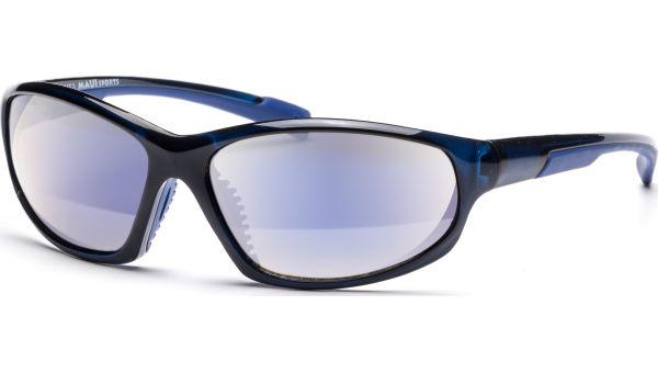 Sonnenbrille 6016 Schwarz Transparent/Blau von MAUI Sports