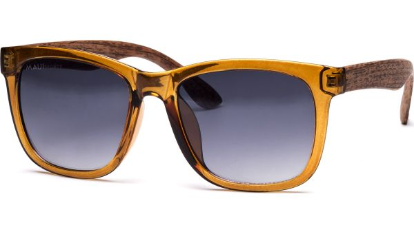 Sonnenbrille 5723 braun-transparent/Holz von MAUI Sports