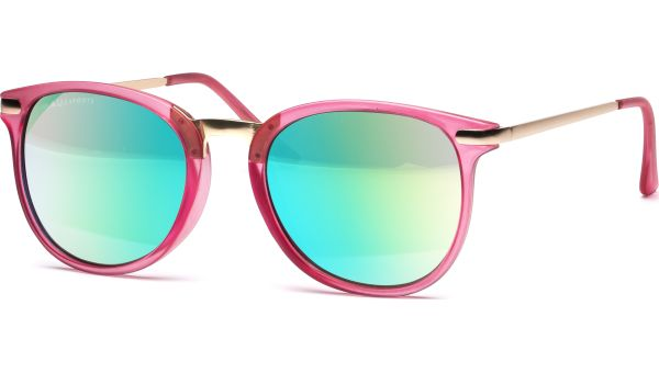 Sonnenbrille 5122 pink-transparent/gold von MAUI Sports