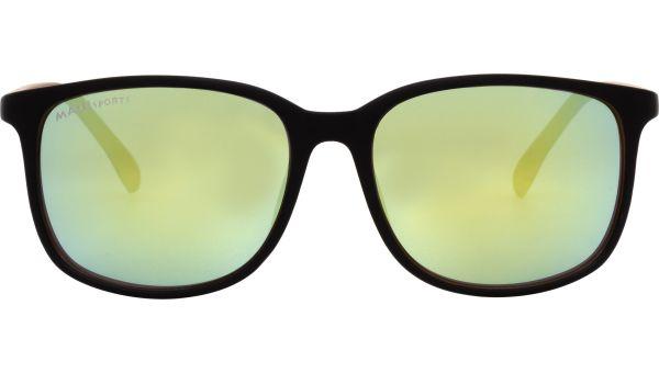 Maui Sports Sonnenbrille 5616 matt schwarz / braun von MAUI Sports