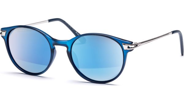 Sonnenbrille 4819 Polarized Matt Blau/Silber von MAUI Sports Polarized