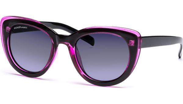 Sonnenbrille 5122 Polarized Schwarz/Pink/Transparent von MAUI Sports Polarized