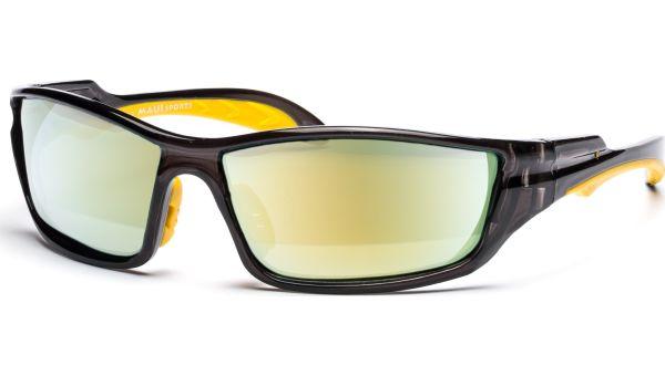 Sonnenbrille 6616 Polarized Schwarz Transparent/Gelb von MAUI Sports Polarized