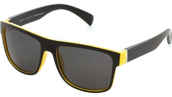 Sonnenbrille 5818 schwarz gelb von MAUI Sports Polarized