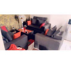 Vente de salon 5 place + table+tapis +vase offert