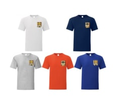 Lot de 5 t-shirts avec poche en wax