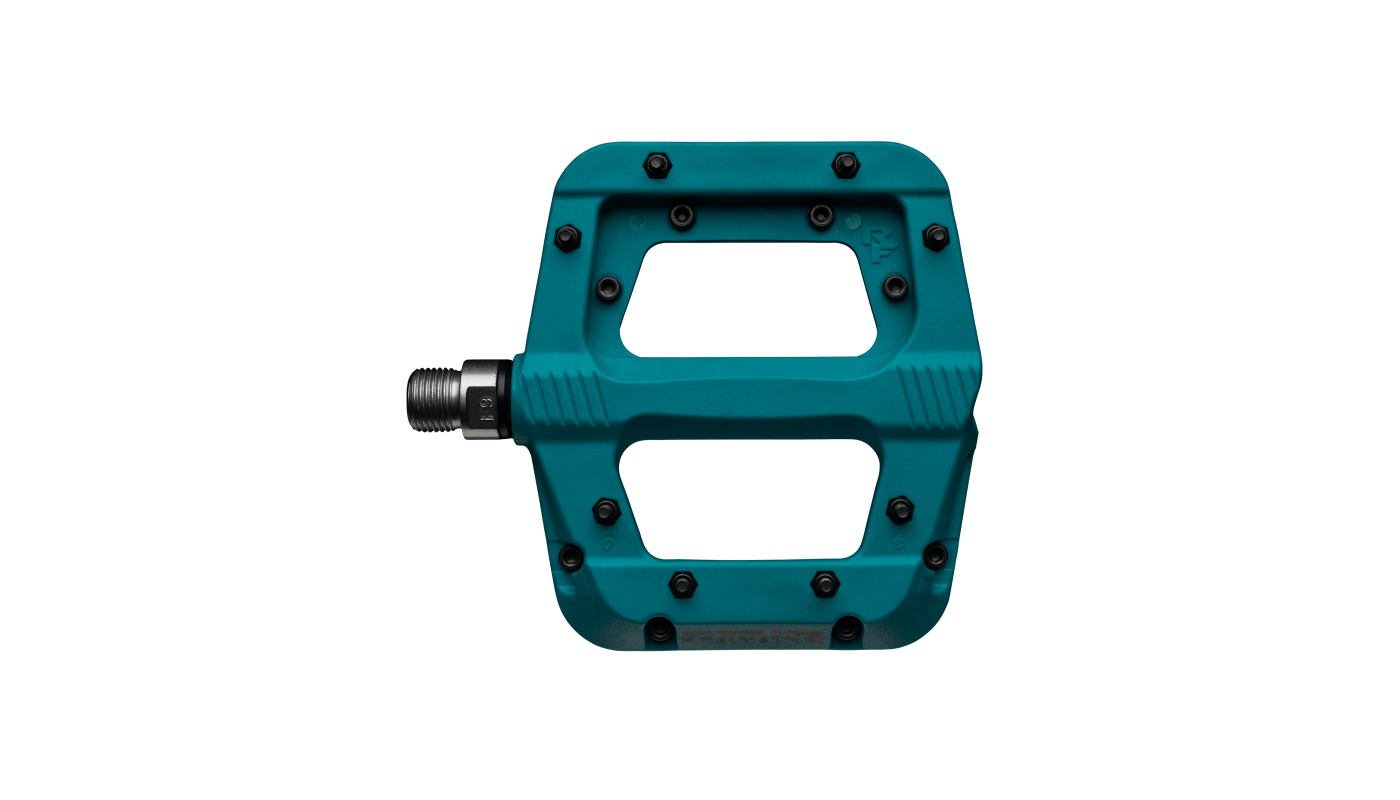 Turquoise Race Face Ride Composite Pedals