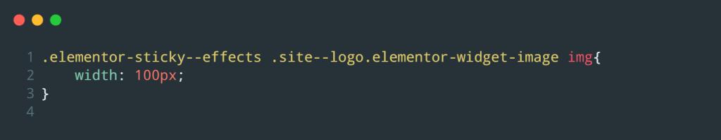 CSS for Site Logo widget