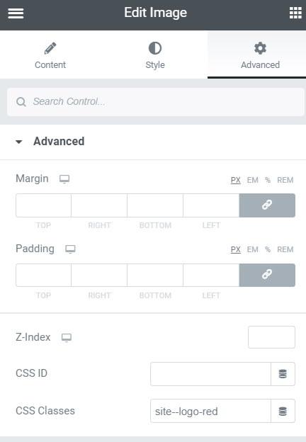 Giving CSS class to an image widget