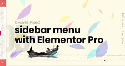 Fixed sidebar header with Elementor pro with the help of CSS