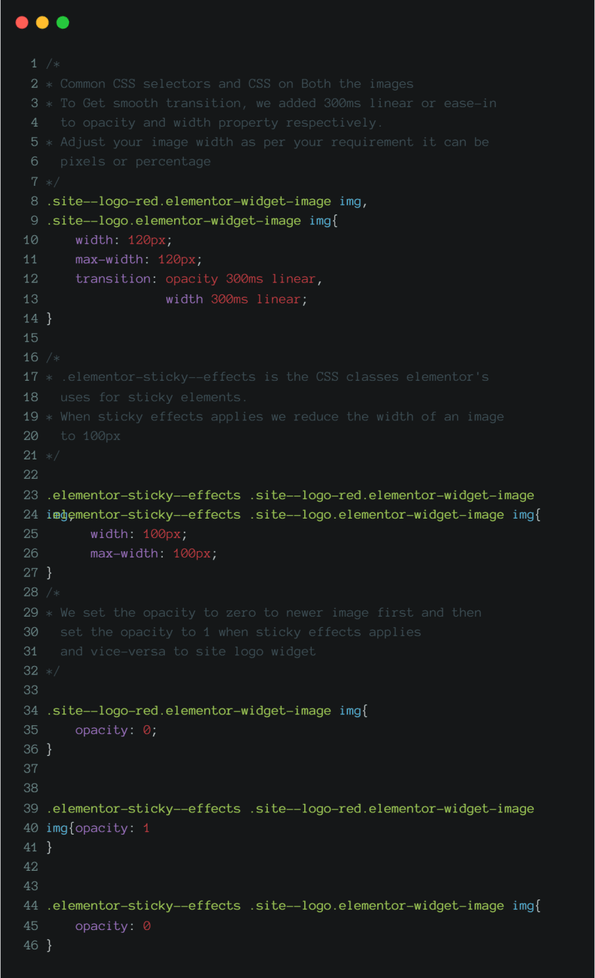 Apply CSS to new image widget