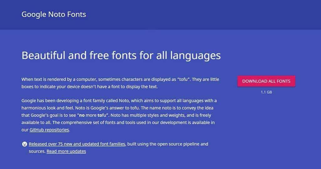 Google Noto Fonts