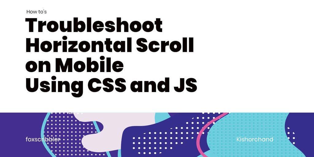 horizontal scroll on mobile