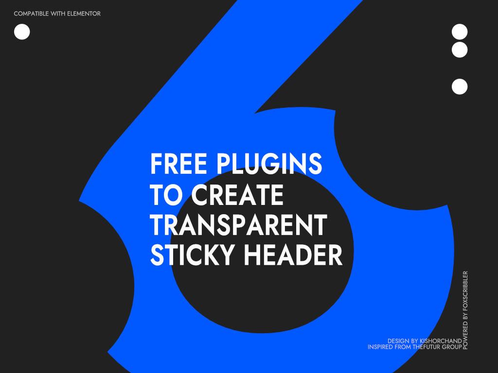 transparent sticky header with 6 free plugins