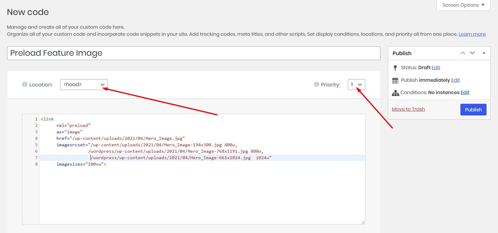 Preloadind in Elementor Pro custom code