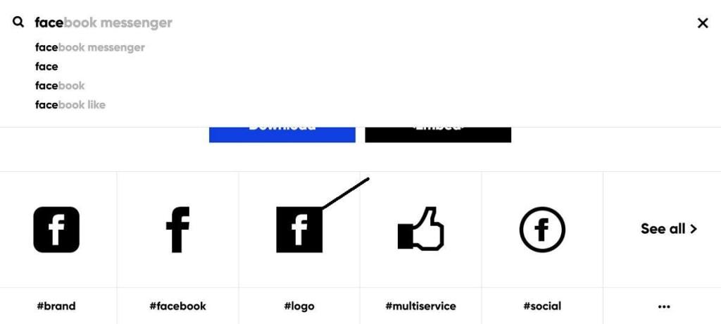 Choose Facebook Icon