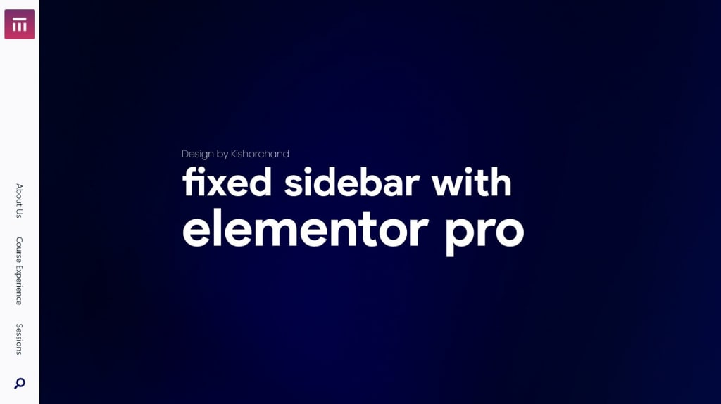 Fixed sidebar with Elementor pro
