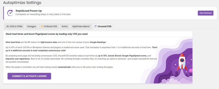 RapidLoad Power up Plugin also allows to remove unused CSS automatically but it requires Autoptimize to fully function