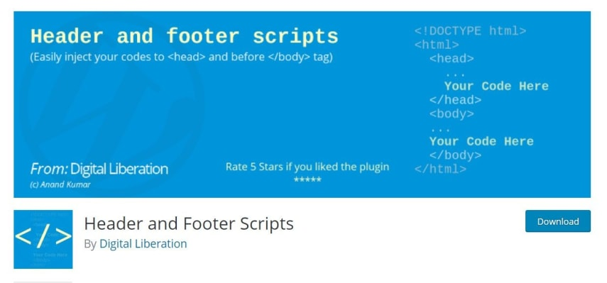 To Insert file, we need to install the Header and Footer Scripts plugin from WP Repository or use PHP scripts