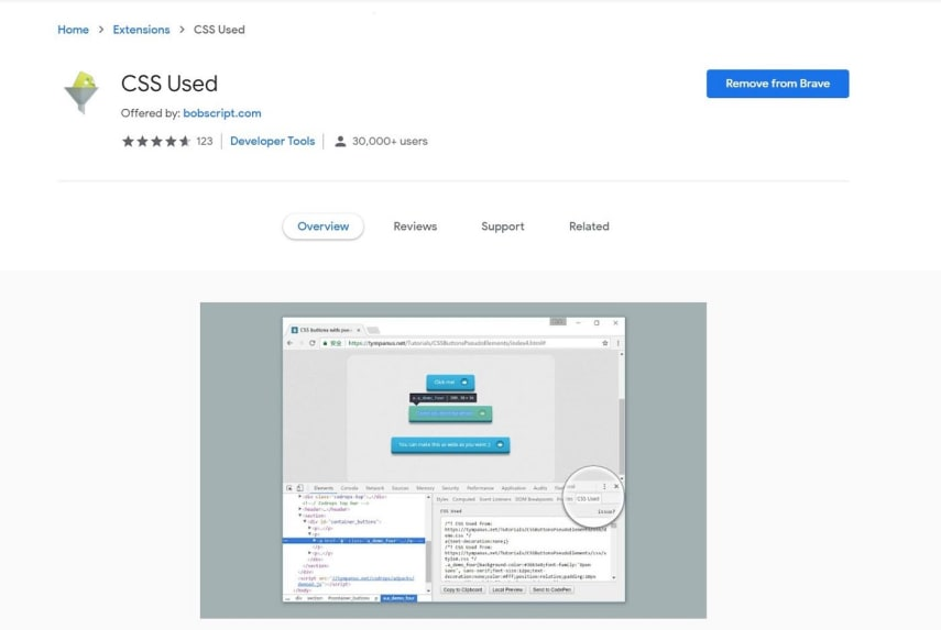 To remove unused CSS problems completely, we have to install CSS Used Chrome Extension from the Chrome extension Store.