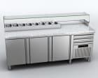 Pizzabenk, kjølt, L=2100, EMPZ-210 Fagor