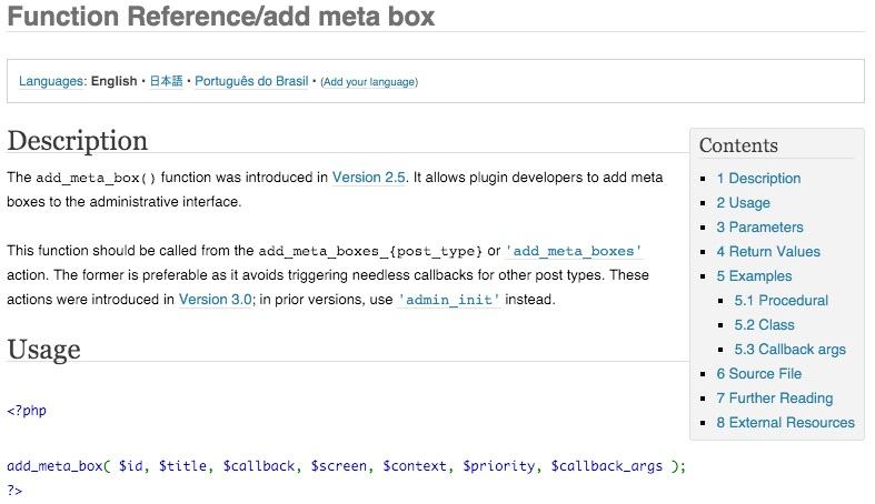 This Week I Learned: Custom Meta Boxes and Post Meta