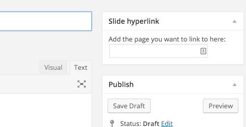 Slide hyperlink metabox