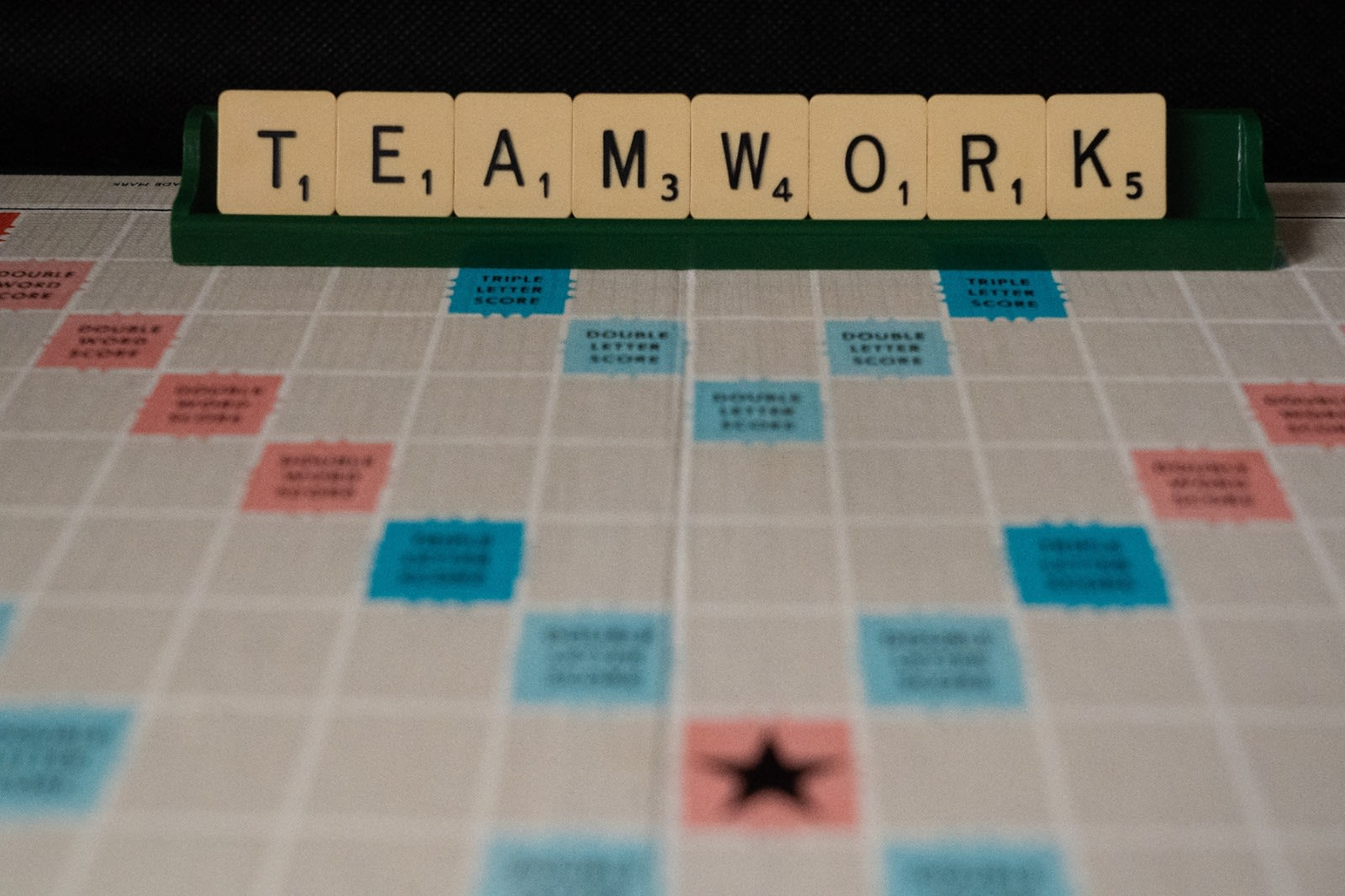 "WOrd puzzle game showing the word ""Teamwork"""