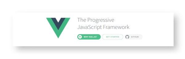 Vue.js framework screenshot
