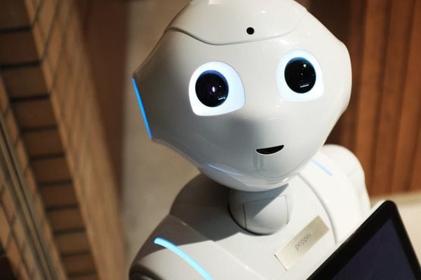 Ethics in AI - robot looking at camera