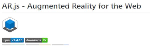 Augmented Reality JavaScript AR.js website screenshot