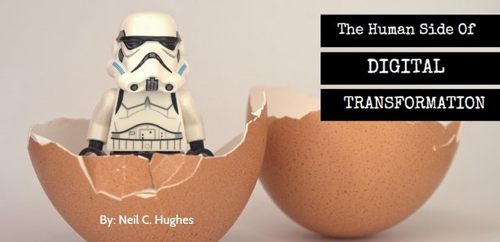​The Human Side of Digital Transformation - toy action figure sitting in an eggshell
