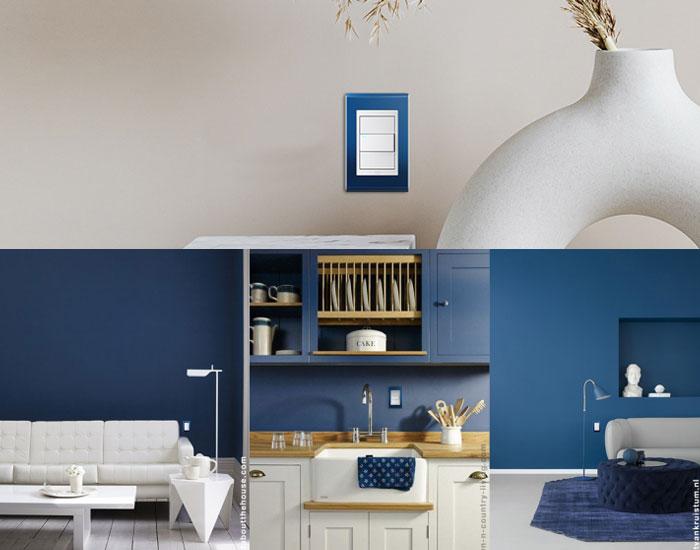 Composição em azul WEG