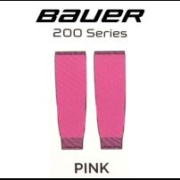 BAUER 【200シリーズ ソックス】 桃 S/Mサイズ(71cm)