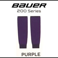BAUER 【200シリーズ ソックス】 紫 S/Mサイズ(71cm)