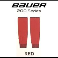 BAUER 【200シリーズ ソックス】 赤 S/Mサイズ(56cm)
