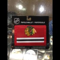 NHLチーム【マジックテープ財布】シカゴ・ブラックホークス