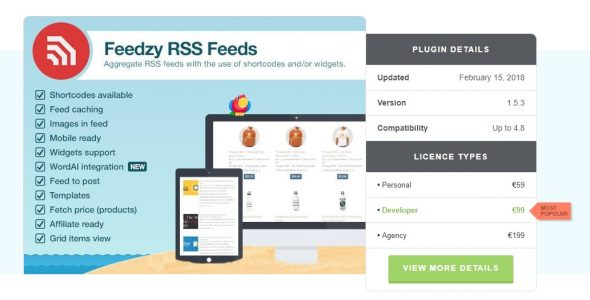 Feedzy RSS Feeds Premium WordPress Plugin Free Download Freethub