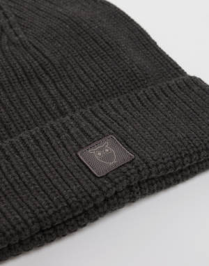 Beanie Knowledge Cotton LEAF ribbing hat