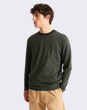 Tričko Thinking MU Dark Green Hemp Shiva L/S T-Shirt