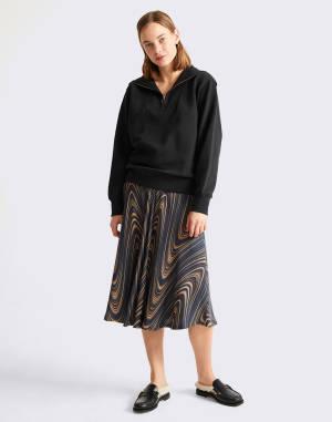 Sweatshirt Thinking MU Black Rebeca Sweatshirt