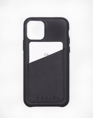 Mujjo - Full Leather Wallet Case for iPhone 11 Pro