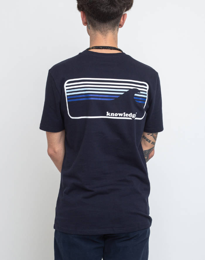 T-shirt Knowledge Cotton Signature Wave Tee