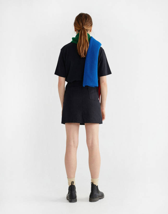 Sukně Thinking MU Black Hemp Rhea Skirt