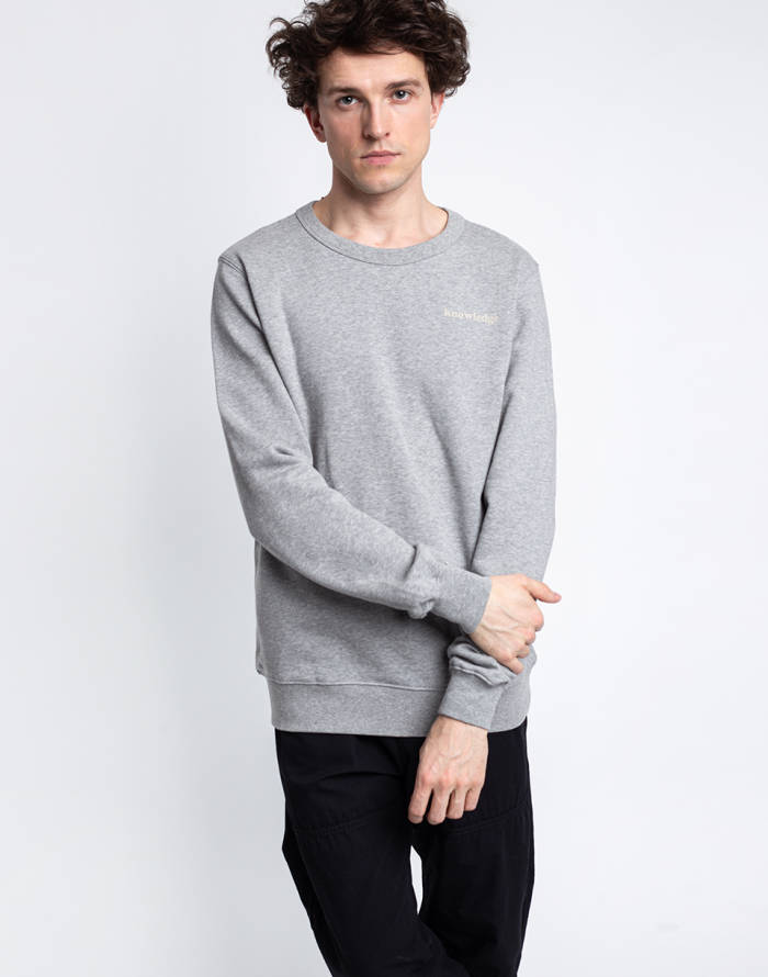 Mikina Knowledge Cotton Elm Basic Chest And Bag Print Sweat