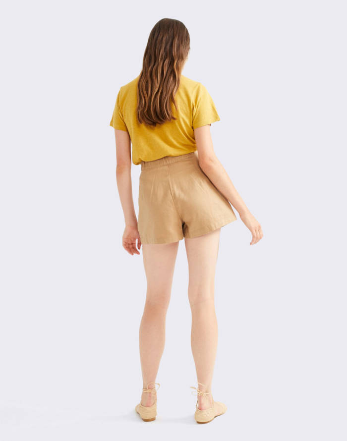 Canvas Thinking MU Camel Hemp Narciso Shorts