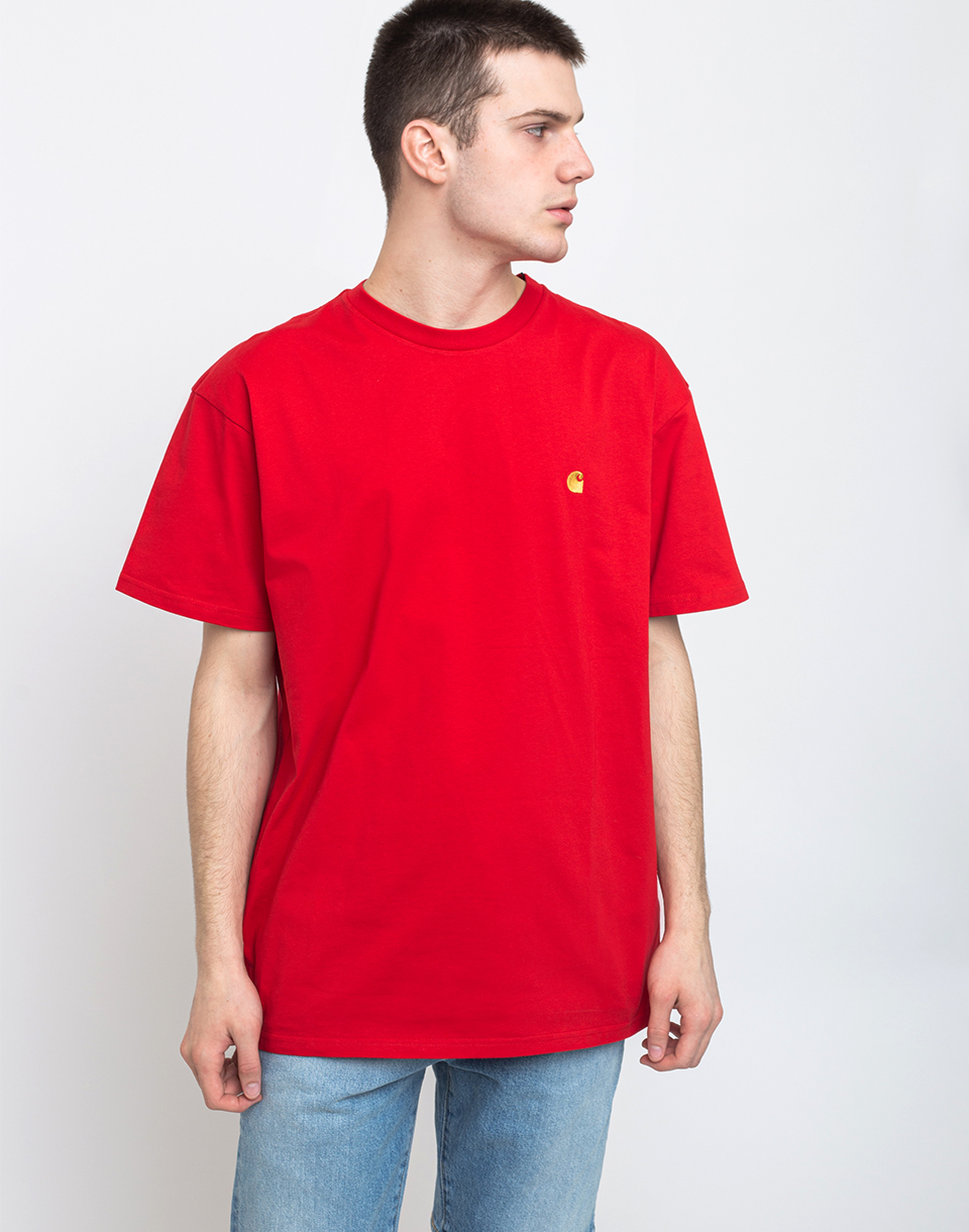 Carhartt WIP S/S Chase T-Shirt Etna Red/Gold M