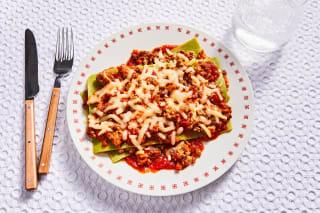 Tricolor Beef Lasagna