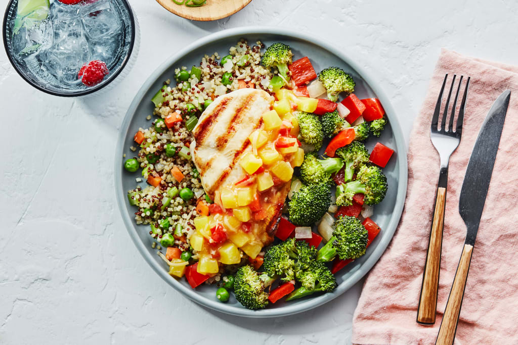 ALOHA CHICKEN with Veggies & Quinoa
